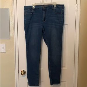 Plus Wax Denim Straight Legged Jeans
